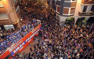 Miles de aficionados se echaron a la calle para festejar el logro conseguido