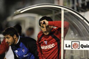 El banquillo del Eibar sufrió durante el encuentro frente al Alavés