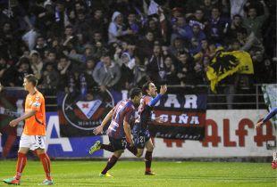 Peleteiro, autor del gol frente al Alavés