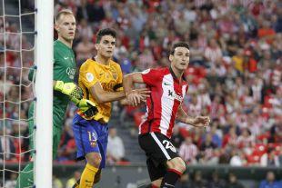 El '20' del Athletic anotó de cabeza, con un remate en el interior del área y desde el punto de penalti