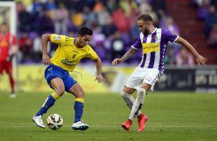 El equipo canario superó al Valladolid en la primera fase del play-off de ascenso