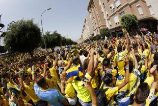 La afición amarilla se movilizó y no falló al equipo para el choque de vuelta ante el Zaragoza