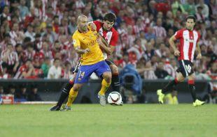 El Athletic presionó con mucha intensidad al Barcelona