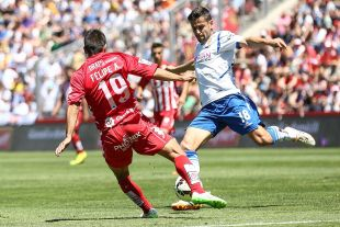 Dorca es el jugador con más pases y minutos en el Zaragoza durante la última temporada