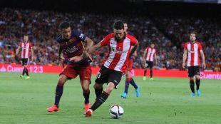 Aduriz, héroe en la ida, volvió a ser determinante en el Camp Nou