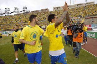 Sergio Araujo es el héroe del ascenso. Su gol devuelve al conjunto canario a la Liga BBVA