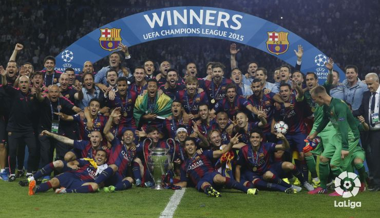 Fc Barcelona Win Their Fifth Champions League Laliga