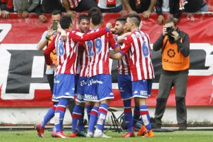 El Sporting sigue en la lucha por el ascenso directo en la Liga Adelante