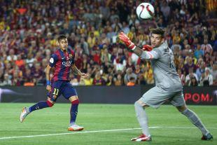 Neymar hizo el segundo tanto para el FC Barcelona