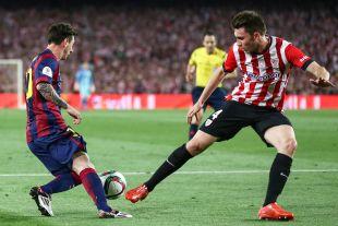 El Athletic puso corazón, pero no fue suficiente ante un Messi sobresaliente