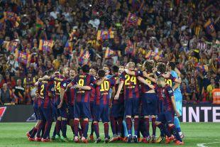 El Barcelona, una piña después de conseguir el segundo título de la temporada