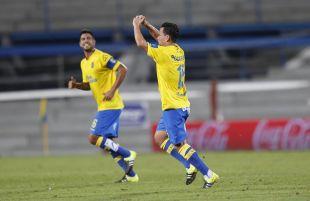 Roque Mesa celebra el 1-0 ante el Sevilla.