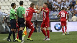 Ciro Immobile, flamante fichaje del Sevilla, también debutó en LaLiga