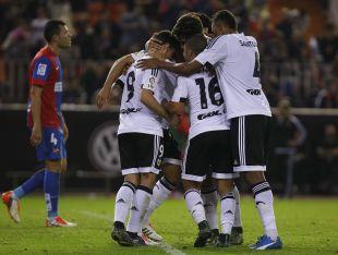 El Valencia suma, con los tres tantos ante el Levante, once goles a su favor