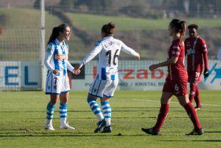 Nahikari García abrió el marcador ante el Logroño.