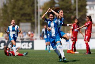 Paula Moreno se estrenó como goleadora con el Espanyol.