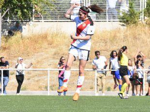 Silvia Pérez firmó el gol del empate en Vallecas.