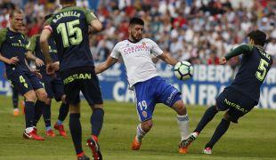Zaragoza - Sporting. PARTIDO ZARAGOZA - SPORTIN DE GIJON