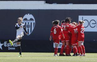 Nagore adelantó al Sevilla FC en Valencia.
