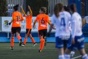 Carol marcó uno de los tres goles que le dieron la victoria al VCF Femenino ante el Zaragoza CFF.
