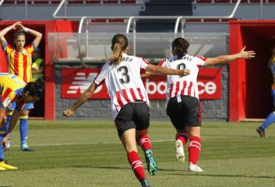 Yulema fue una de las grandes protagonistas del Athletic - VCF Femenino, al marcar dos de los tres tantos de la victoria de su equipo ante el conjunto che.