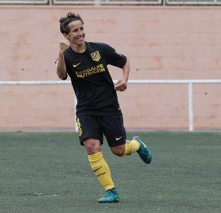 Sonia Bermúdez celebra el segundo gol del Atleti frente al Levante.