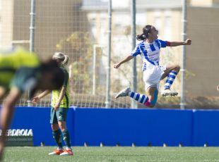 Anita marcó el primero de los dos goles del Sporting Huelva frente al Espanyol.