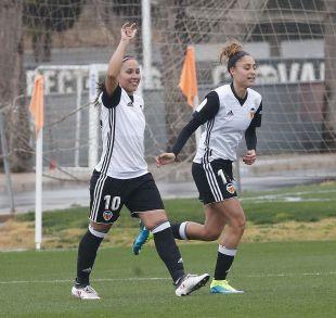 Maripaz fue una de las jugadoras más destacadas del VCF Femenino - Athletic, al marcar dos de los tres tantos valencianistas.