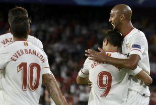 Sevilla - Maribor.  EFE/Raúl Caro