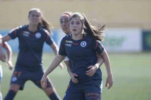 Una acción del partido disputado entre el Granadilla Egatesa y el Zaragoza CFF (2-0).