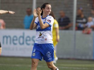 Paloma Lázaro, autora de un gran gol.