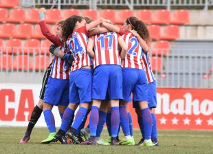 El At. Madrid Femenino terminó superando al F. Albacete con un gol de Laura en el añadido