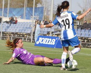 Un lance del partido que enfrentó al Espanyol y al Granadilla Egatesa.