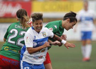 Maria José marca el 3-1 ante el Santa Teresa.