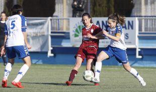 Un choque del partido que enfrentó al Espanyol y al Oiartzun.