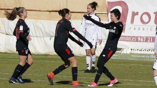 Erika Vázquez firmó un doblete ante el Albacete.