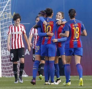 Vicky Losada celebra su primer gol esta temporada.
