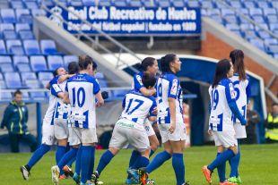 Anita y Laura Rus anotaron los goles del Sporting.