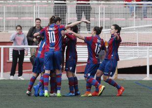 Así celebró el Levante Femenino el primero de sus goles