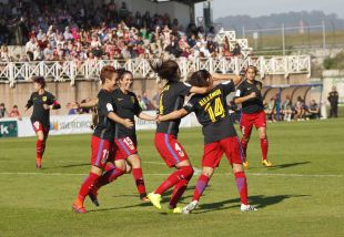 Ale Rosillo se estrenó como goleadora en el Atlético.