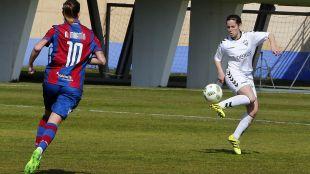 Un lance del partido que enfrentó al F. Albacete y al Levante Femenino.