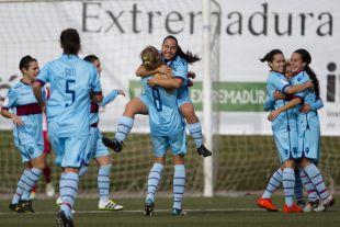 Celebración de la victoria ante el Santa Teresa (0-3).