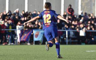 Patri Guijarro adelantó al Barcelona con un auténtico golazo.