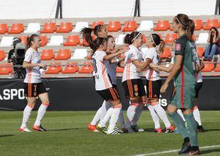 El Valencia celebra su victoria ante el Athletic.