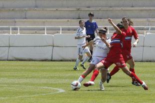 Un lance del partido entre el F. Albacete y el Espanyol.