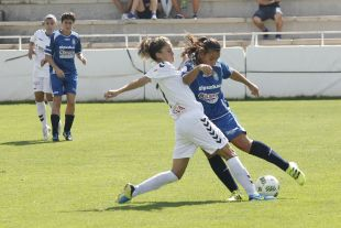 Un lance del partido entre el F. Albacete y el Oiartzun KE.
