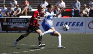 Un lance del partido entre el Granadilla Egatesa - Sporting de Huelva.
