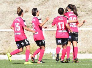La alegría del F. Albacete tras el 1-1 ante el Rayo.