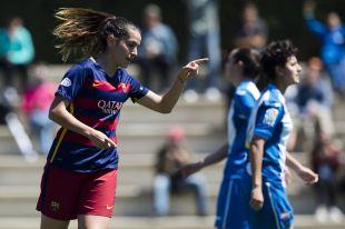 Olga García, autora de dos goles ante el Espanyol.