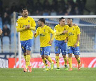 El ariete de Las Palmas anotó su octavo gol del curso